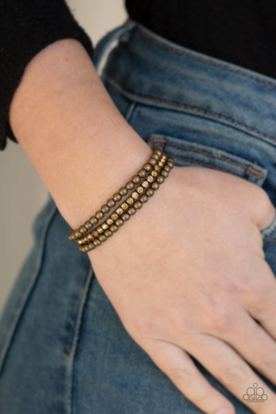 Paparazzi Glam Game - Brass Bracelet - Glitzygals5dollarbling Paparazzi Boutique