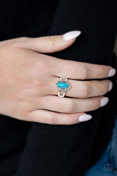 Zest Quest - blue - Paparazzi ring