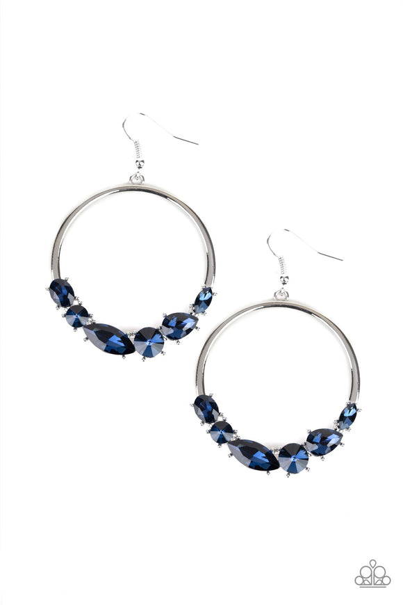 Paparazzi Legendary Luminescence Blue Earrings