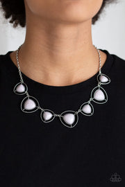 Paparazzi Make a Point Silver Gray Necklace - Glitzygals5dollarbling Paparazzi Boutique