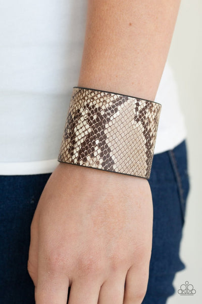 Paparazzi What's HISS Is Mine Brown Urban Bracelet - Glitzygals5dollarbling Paparazzi Boutique