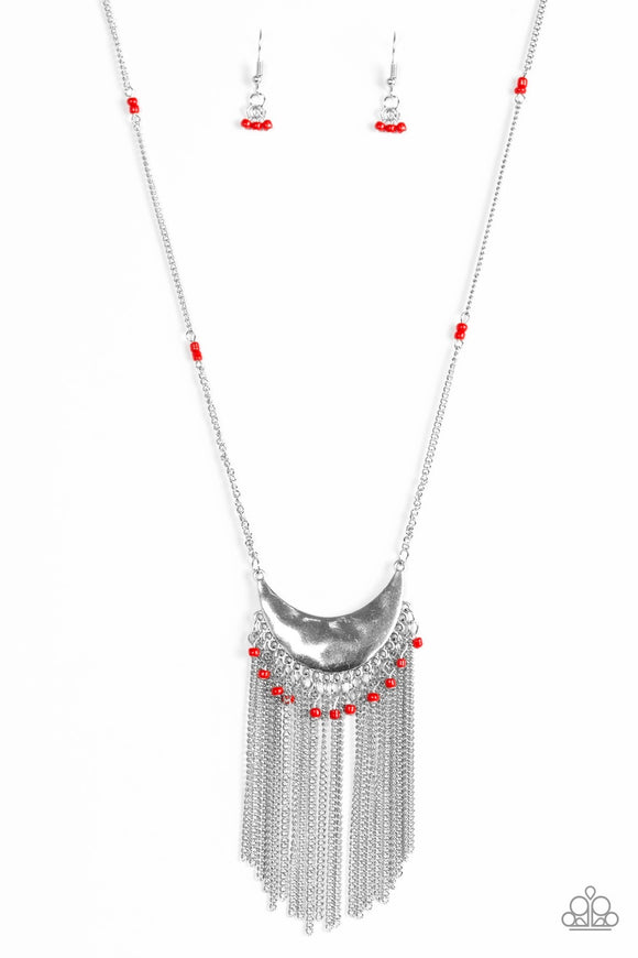 Paparazzi Desert Trance Red Necklace