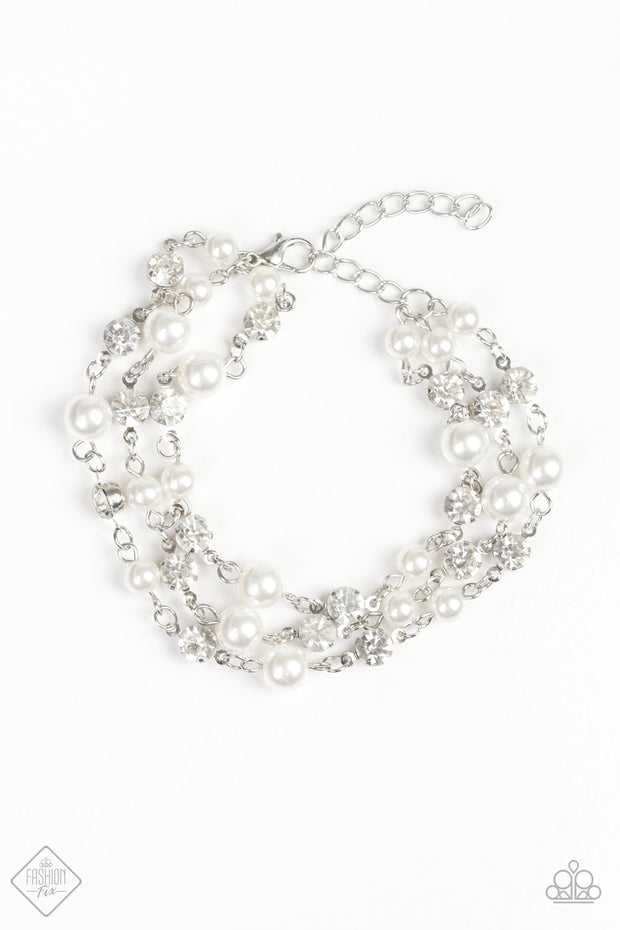 Paparazzi Every VOW and Then White Bracelet Fashion Fix Exclusive - Glitzygals5dollarbling Paparazzi Boutique