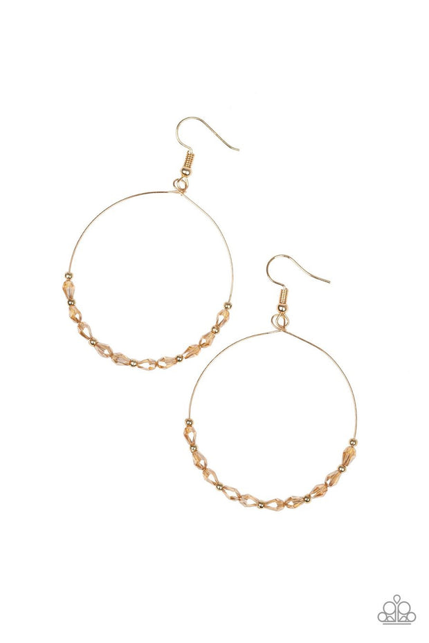 Paparazzi Prize Winning Sparkle Gold Earrings - Glitzygals5dollarbling Paparazzi Boutique