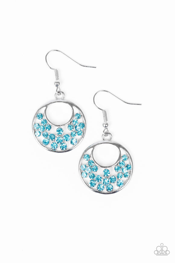 "Paparazzi ""Sugary Shine"" Blue Earrings"