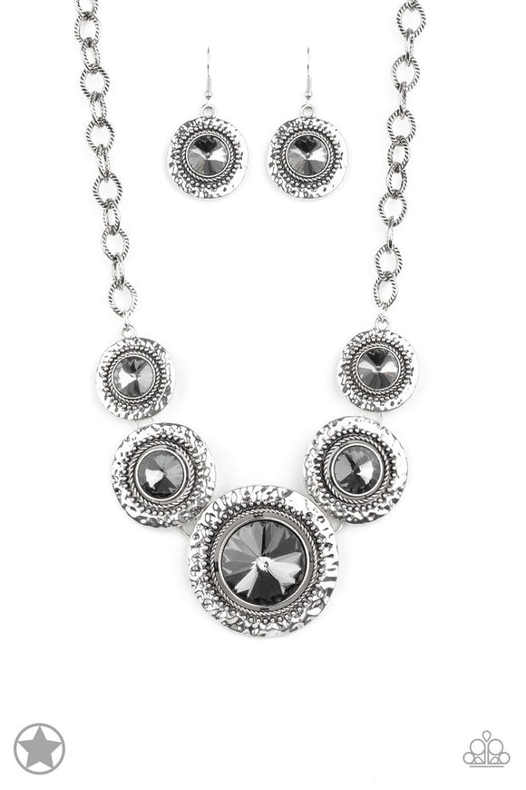 Paparazzi Global Glamour - Smoky Gems - Necklace and matching Earrings - Blockbuster Exclusive