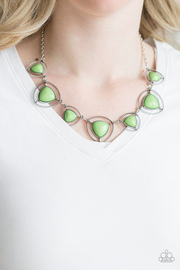 Paparazzi Make A Point Green Necklace - Glitzygals5dollarbling Paparazzi Boutique