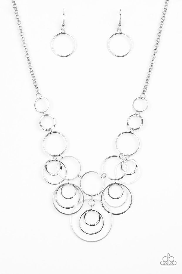 Break the Cycle - silver - Paparazzi necklace - Glitzygals5dollarbling Paparazzi Boutique