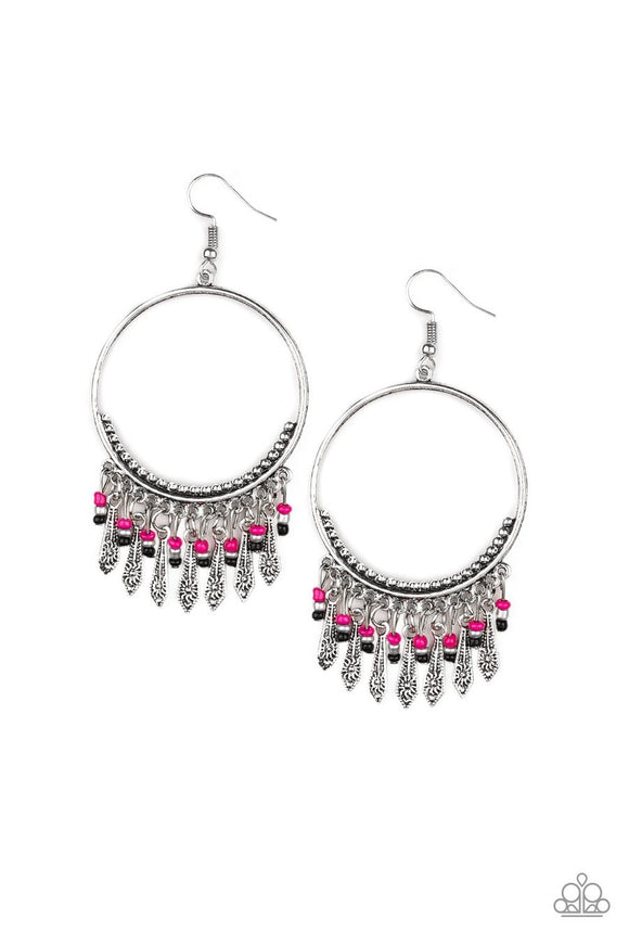PAPARAZZI FLORAL SERENITY - PINK Earrings