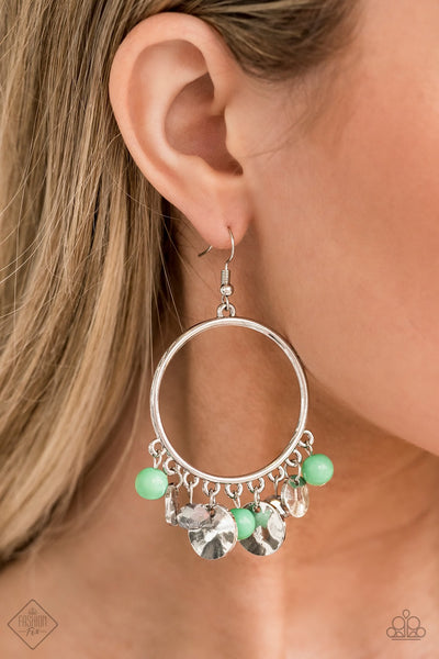 Paparazzi Chroma Chimes Green Fashion Fix Exclusive Earrings - Glitzygals5dollarbling Paparazzi Boutique