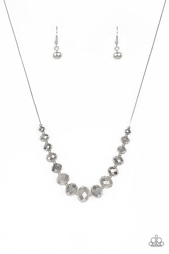 Paparazzi Crystal Carriages Silver Beaded Necklace