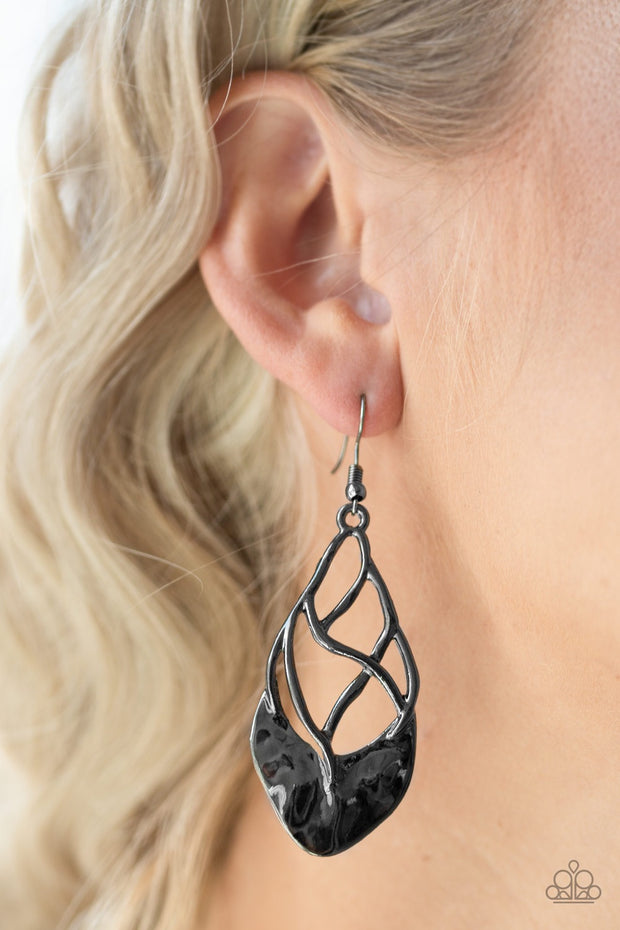 Super Swanky Black Earrings - Glitzygals5dollarbling Paparazzi Boutique