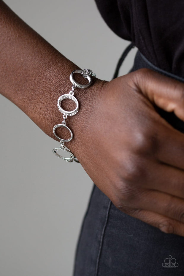 Paparazzi Beautiful Inside and Out - White Bracelet - Glitzygals5dollarbling Paparazzi Boutique