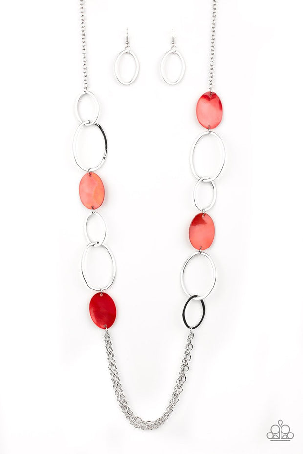 Kaleidoscope Coasts - red - Paparazzi necklace - Glitzygals5dollarbling Paparazzi Boutique