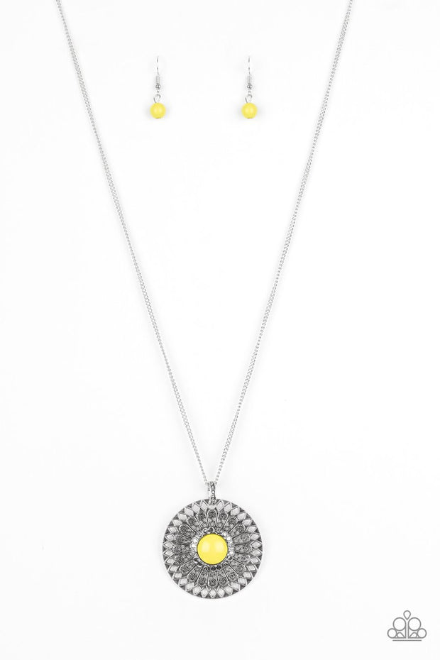 Paparazzi So Solar Yellow Necklace - Glitzygals5dollarbling Paparazzi Boutique