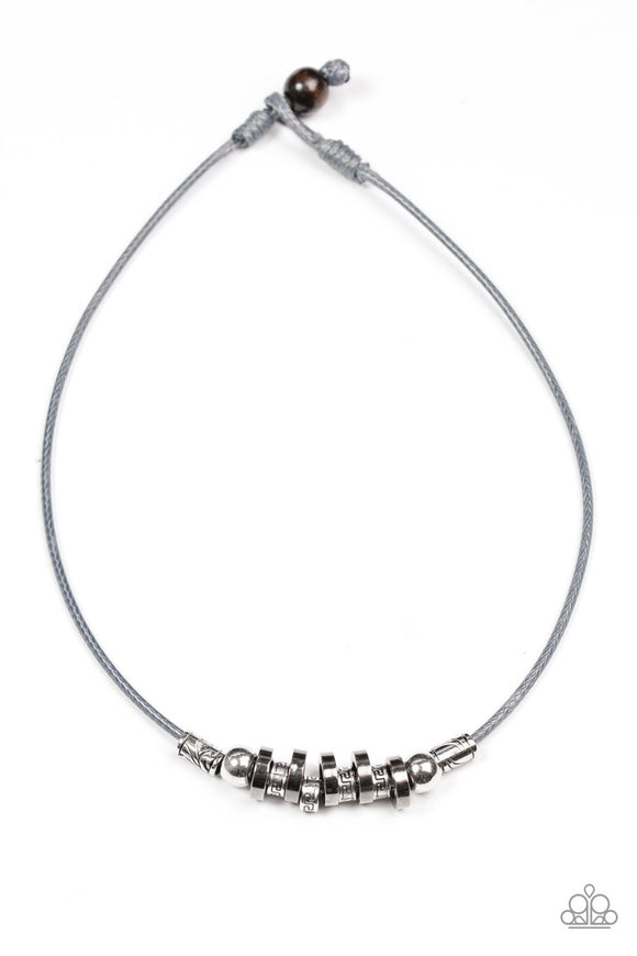 Paparazzi Ancient Canyons - Silver Necklace mens unisex