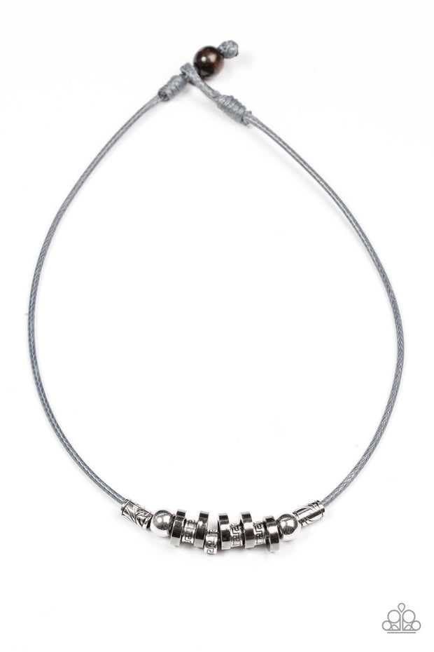 Paparazzi Ancient Canyons - Silver Necklace mens unisex - Glitzygals5dollarbling Paparazzi Boutique