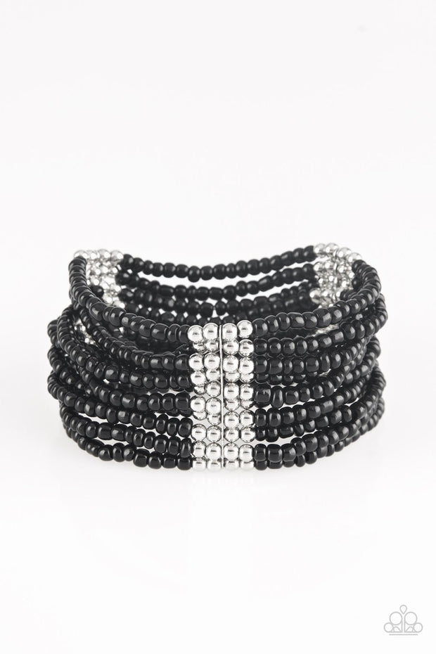 Paparazzi Outback Odyssey - Black Seed Beads - Bracelet - Glitzygals5dollarbling Paparazzi Boutique
