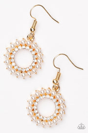 "Paparazzi ""A Proper Lady"" Gold Earrings - Glitzygals5dollarbling Paparazzi Boutique"