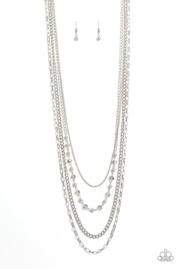 Paparazzi SoHo Sophistication - Silver Necklace - Glitzygals5dollarbling Paparazzi Boutique