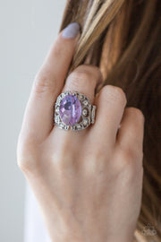 Paparazzi Queen of Hustle Purple Ring - Glitzygals5dollarbling Paparazzi Boutique