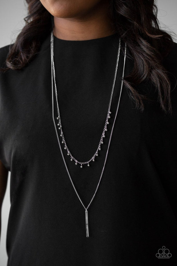 Paparazzi Keep Your Eye On The Pendulum - Silver Necklace - Glitzygals5dollarbling Paparazzi Boutique