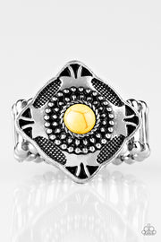 Four Corners Fashion - Yellow Ring - Glitzygals5dollarbling Paparazzi Boutique