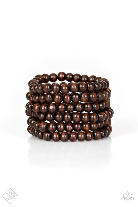 Paparazzi Maui Mojito Brown Bracelet Fashion Fix Exclusive