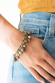 "Paparazzi ""Grit and Glamour"" Green Bracelet - Glitzygals5dollarbling Paparazzi Boutique"