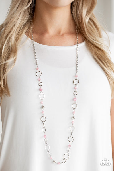 Paparazzi Kid In A Candy Shop - Pink Moonstone Necklace - Glitzygals5dollarbling Paparazzi Boutique