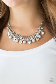 Paparazzi Summer Showdown - Silver - Necklace and matching Earrings