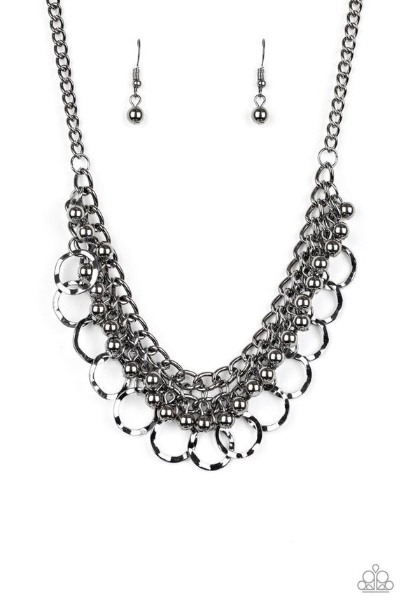 Paparazzi Ring Leader Radiance - Black Necklace