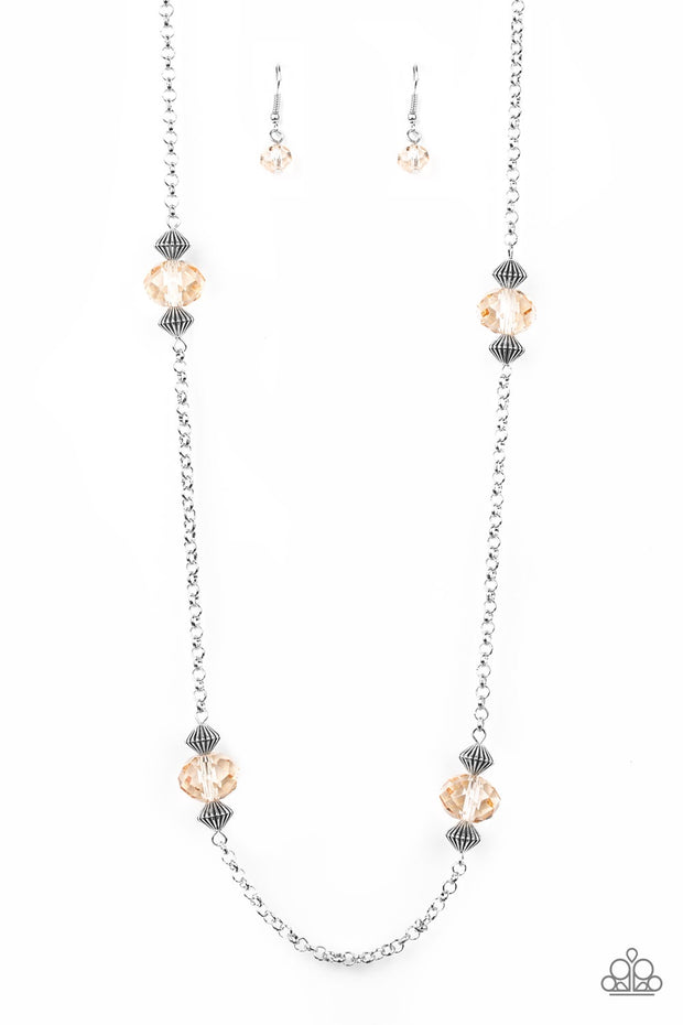 Paparazzi Season of Sparkle Brown Necklace