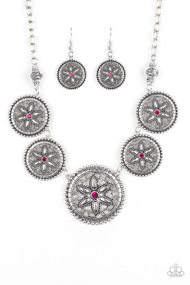 Written in the STAR LILIES - pink - Paparazzi necklace - Glitzygals5dollarbling Paparazzi Boutique