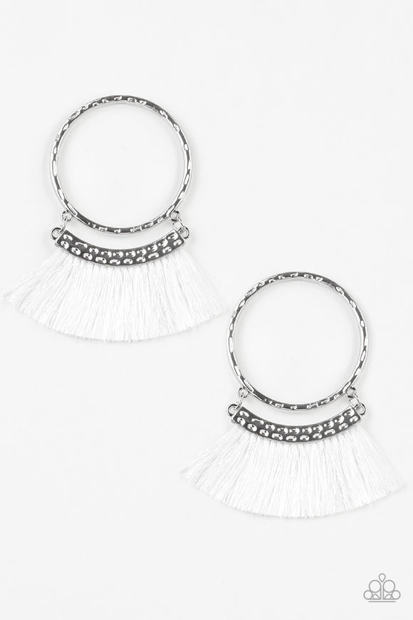 This is Sparta! White Post Earrings