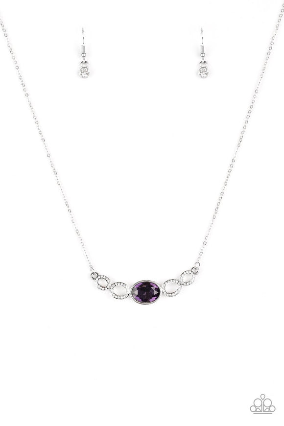 Paparazzi Cheers to Sparkle Purple Necklace