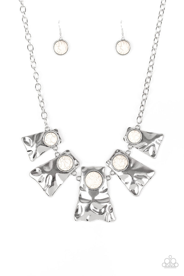 Paparazzi Cougar White Necklace - Glitzygals5dollarbling Paparazzi Boutique