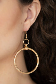 Total Focus - gold - Paparazzi earrings