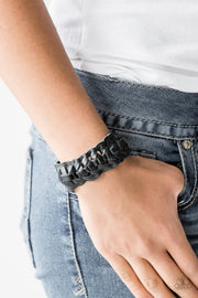 Rustle Up - black - Paparazzi bracelet - Glitzygals5dollarbling Paparazzi Boutique