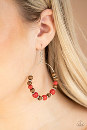 Forestry Fashion - red - Paparazzi earrings