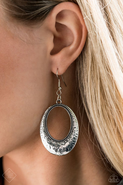 Paparazzi Earrings Fashion Fix Dec 2020 ~ Tempest Texture - Silver - Glitzygals5dollarbling Paparazzi Boutique