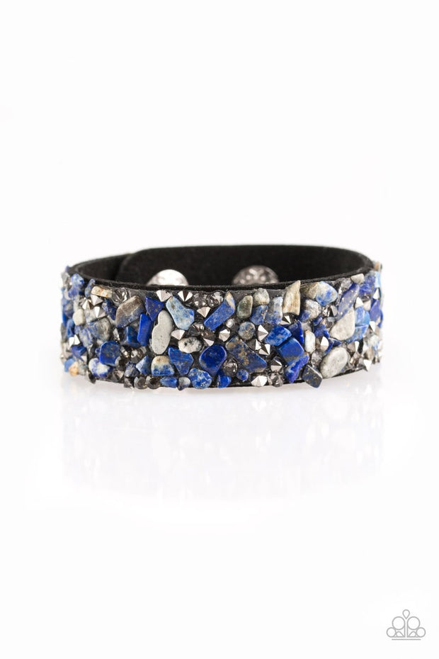 Paparazzi Totally Crushed It Blue Urban Bracelet - Glitzygals5dollarbling Paparazzi Boutique