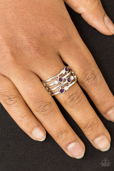Sparkle Showdown - Purple Ring - Glitzygals5dollarbling Paparazzi Boutique
