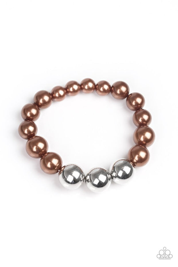 All Dressed UPTOWN - brown - Paparazzi bracelet - Glitzygals5dollarbling Paparazzi Boutique
