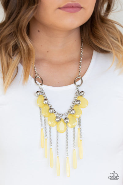Paparazzi Roaring Riviera - Yellow Necklace - Glitzygals5dollarbling Paparazzi Boutique