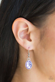 Paparazzi Oceans Away - Purple Gem - Silver Earrings - Glitzygals5dollarbling Paparazzi Boutique