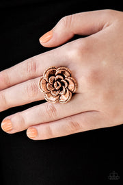 Paparazzi Ring ~ FLOWERBED and Breakfast - Copper - Glitzygals5dollarbling Paparazzi Boutique