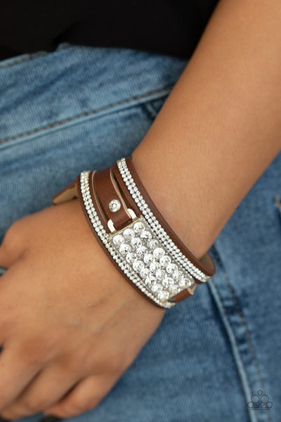 PREORDER Paparazzi Shockingly Sparkly - Brown Bracelet - Glitzygals5dollarbling Paparazzi Boutique