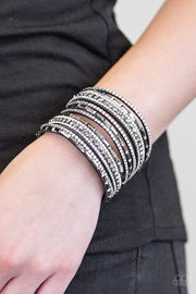 Wham Bam Glam Silver Urban Bracelet - Glitzygals5dollarbling Paparazzi Boutique
