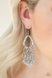 Paparazzi Teardrop Trinket Silver Earrings - Glitzygals5dollarbling Paparazzi Boutique